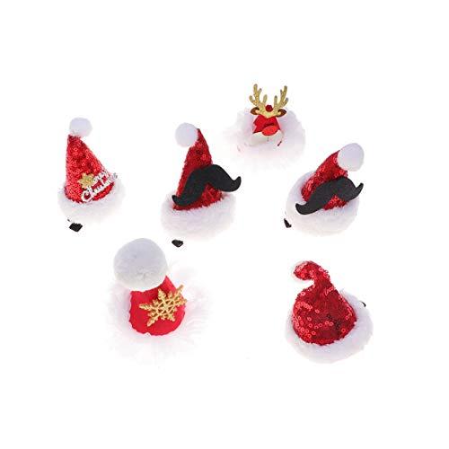 STOBOK 6pcs Haarspangen der netten Funkelnhaarnadel der Weihnachten für Kindermädchen-WeihnachtsPartei-Versorgungen