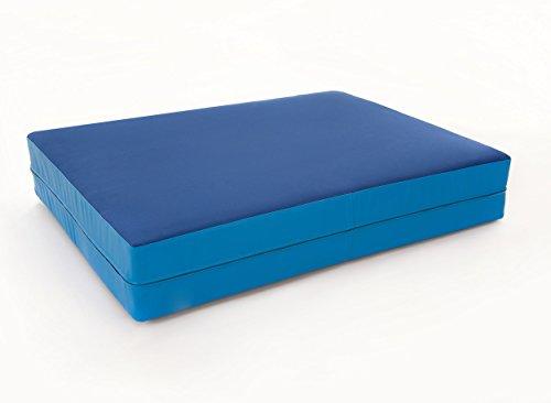 FLIXI Hüpfmatratze - ab 1 Jahre - Turn Matte für Kinder - Spiel Matratze zum Toben - Hüpfen - Balancieren Dunkelblau/Blau