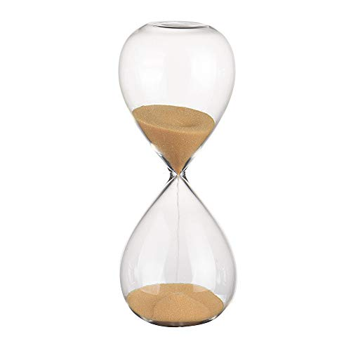 AQ89 Glass Hourglass Transparent Glass Hourglass Timer 10 Minutes Time Gift Home & Garden Kitchen,Dining & Bar