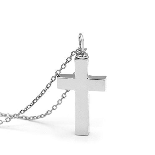 Nana Bijoux Argent Sterling 925Urne Croix Collier pour Homme pour Femme