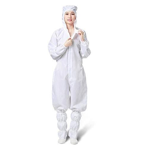 Protection globale réutilisable anti-poussière combinaison de protection anti-statique robe de protection combinaison anti-statique anti-poussière avec capuche-XXL