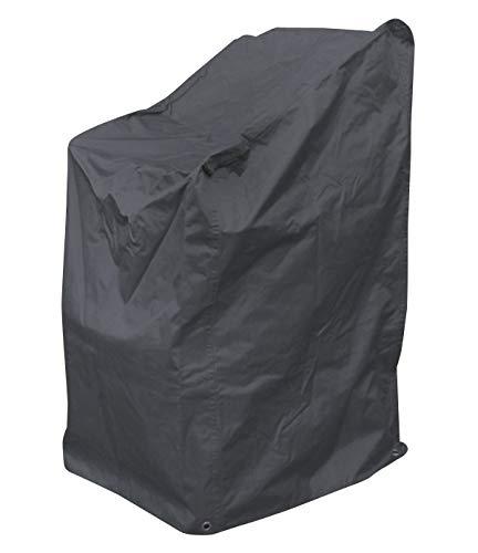Fachhandel-Plus Confort Housse de Protection pour chaises empilables, Housse de Chaise, Gris Anthracite, 63 x 79 x 120 cm