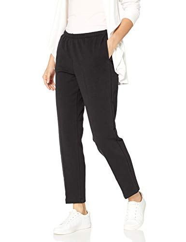 Ruby Rd. Women's Petite Pull-on Stretch French Terry Pants, Black, PM