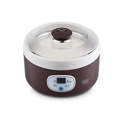 NXYJD Automática Fabricante de Yogur, 1L Hogar eléctrico automático de Yogur El Yogur Acero Inoxidable Recipiente Interior