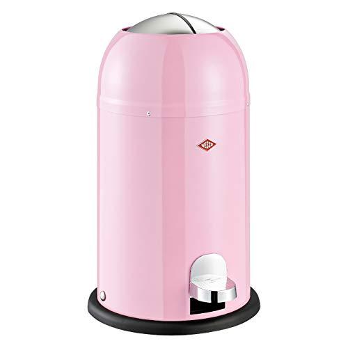 Wesco 180 312 Kickmaster Junior Abfallsammler 12 Liter pink 30 x 30 x 51cm (L/B/H), Edelstahl