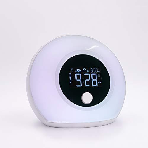 HX0945 wekker voor kinderen, bluetooth, luidspreker, muziek, slaap, nachtlampje, timer, wekker, bassen, hifi, mobiele telefoon