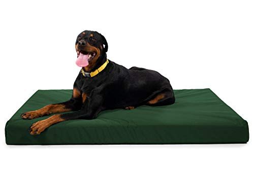 K9 Ballistics Tough Orthopedic Dog Bed X-Large Nearly Indestructible & Chew Proof, Washable Ortho Pillow for Chewing Puppy - for X-Large Dogs 54'x38', Green