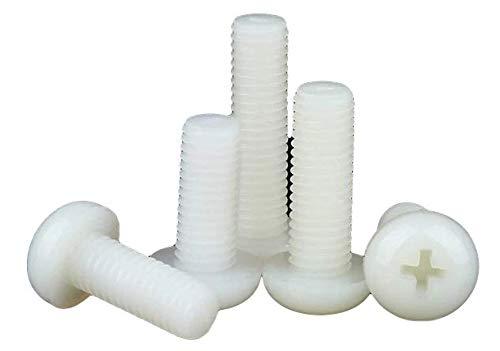 20 tornillos de plástico, cabeza de lente, de nailon, M3, M4, M5, M6, 10 mm, 20 mm, 30 mm