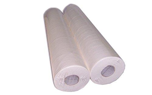Look Concept - Sábana protectora, lote de 2 rollos, color blanco