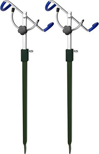 Storfisk fishing & more Stabiler und Winkelverstellbarer Rutenhalter aus Metall einzeln oder als 2er Set, Stück:2 Stück