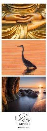 Zen Triplets - Kalender 2021 - Alpha Edition-Verlag - Fotokalender mit farbharmonischen Triplets aus der Natur - 24,8 cm x 68,8 cm - Vertikalkalender