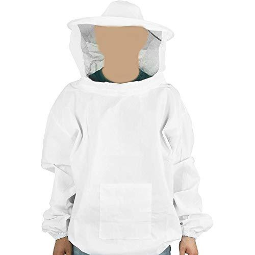 Dauerhaft Bienenzucht Versorgung Ventilated Anzug von Forest - Clear View Mit Schleier Hood, Bienenzucht Jacke Light Weight-Hörakustiker, Anfänger Imker und kommerzielle Imker ( Size : White XL )