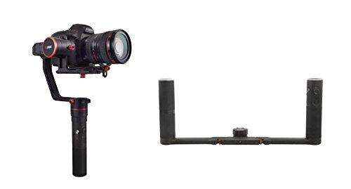 Feiyu Tech a2000 - Kit estabilizador Dual Hand para Camaras DSLR, gimbal de 3 ejes, hasta 2kg, color negro