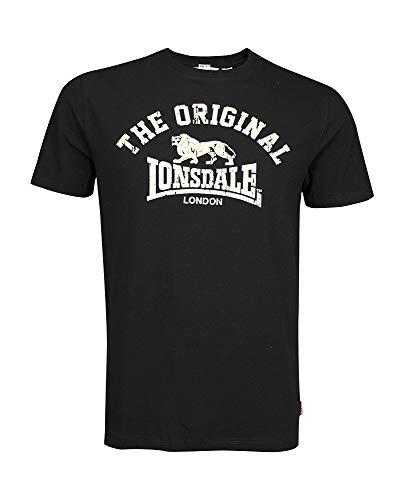 Lonsdale Unisex Langarmshirt T-Shirt Regular Fit ORIGINAL schwarz (schwarz) Large