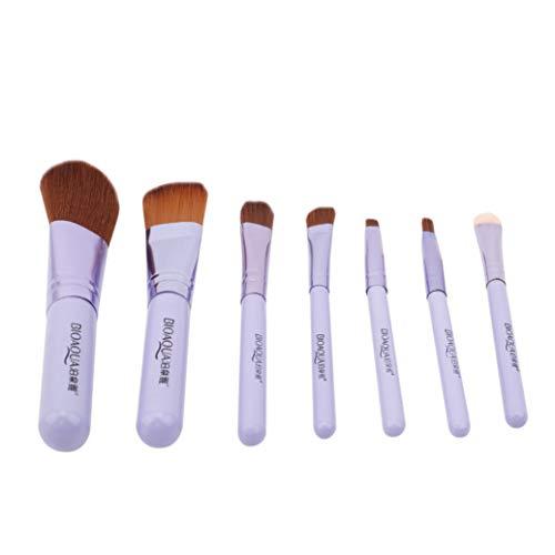 GOMYIE 7 Pcs/Set Pinceau De Maquillage Multifonctionnel Set Foundation Foundation Lip Brush Femmes Outils De Beauté (Violet)