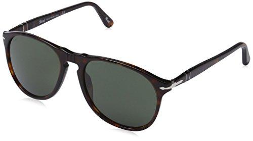 Persol 0po9649s gafas de sol, Marrón (Havana/Green), 55 Unisex-Adulto
