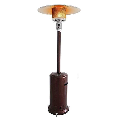 LS Line Premium 46000BTU Portable Propane Patio Heater, Outdoor Floor Free Standing Portable Patio Gas Heater with Wheels, Easy to...