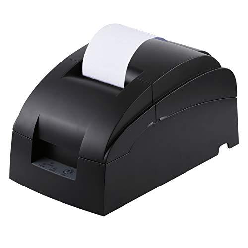 GzPuluz Imprimante à Petit Ticket bidirectionnel à Cinq Broches D5000 (Noir) de Type liste