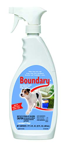 Lambert Kay Boundary Indoor/Outdoor Dog Repellent Pump Spray, 22-Ounce