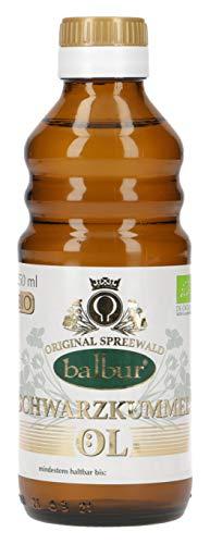 Balbur-Schwarzkümmelöl (Bio) aus dem Spreewald, erste Kaltpressung, naturbelassen, ungefiltert (250 ml)