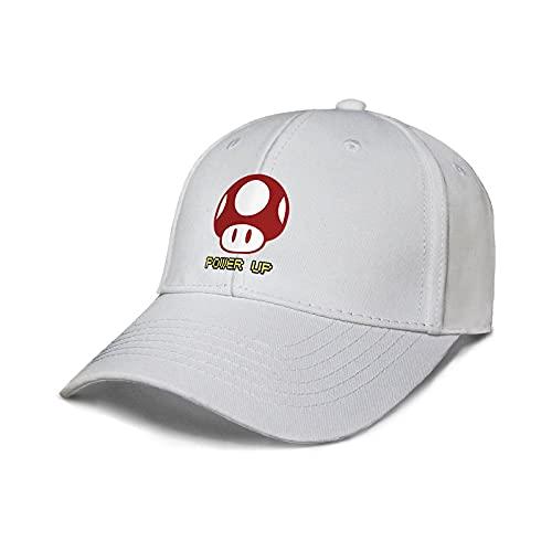 XIANGAN Sombrero de Mario Juego de Anime Mario Hongo Rojo Que rodea Sombrero de Lengua de Pato Hombres y Mujeres Protector Solar Linda Gorra de béisbol Marea