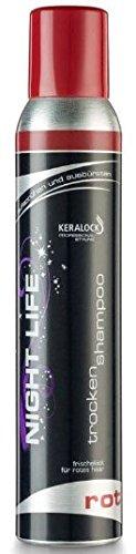 KERALOCK Night Life Trockenshampoo Rot, 200 ml, 2er Pack (2 x 200 ml)