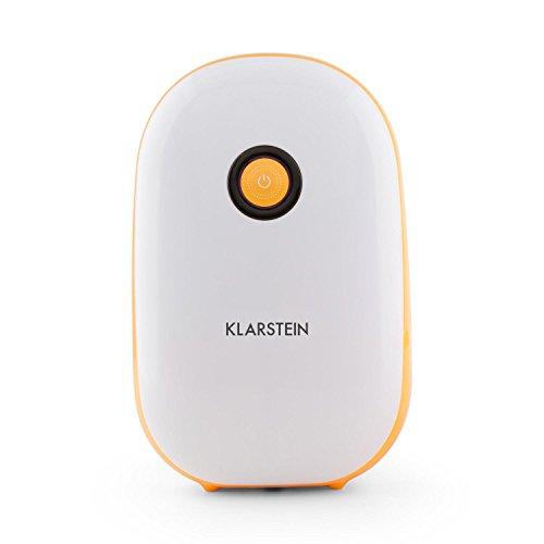 KLARSTEIN Hiddensee 1500 - Deumidificatore, Filtro Aria, Depuratore Elettrico, Compressore Economico da 72 Watt, Serbatoio Acqua 1,1 l, Compatto, 21 x 34 x 14 cm (BxHxT)
