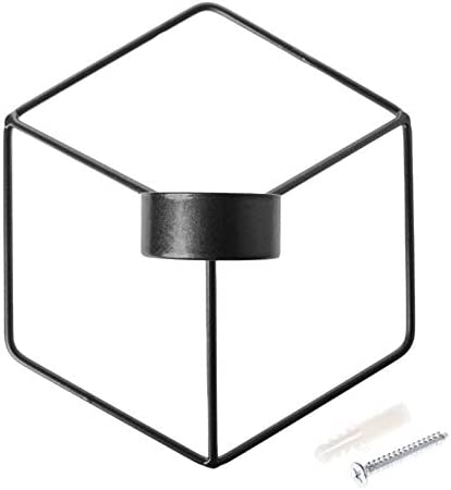 JXHYKJ Nordic Max Popular product 69% OFF Style 3D Geometric Wall H Candle Metal Candlestick