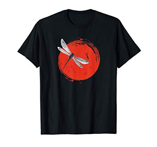 Zen Circle Japanese Dragonfly Sun Yoga Maglietta