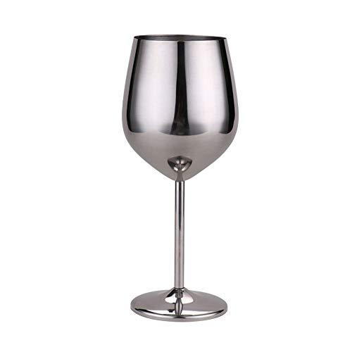 500ml Rotwein Glas Silber Rose Gold Pokale Saft Trinken Champagner Becher Party Barware Küche Werkzeuge 304 Edelstahl