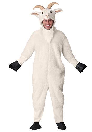 Disfraz de cabra de montaña para adulto -  Blanco -  Medium