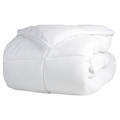 Superior Solid White Down Alternative Comforter, Duvet Insert, Medium Weight for All Season, Fluffy, Warm, Soft & Hypoallergenic - Full/Queen Bed