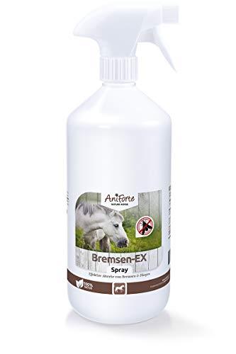 AniForte Bremsenspray für Pferde 1L - Bremsen-EX Spray effektive & langanhaltende Wirkung gegen Bremsen, Sofortiger Schutz vor Mücken, Fliegen, Parasiten, Bremsen-Blocker in praktischer Sprühflasche