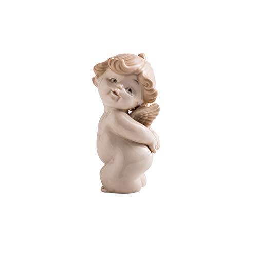 Glover Decoración nórdica para el hogar pequeño ángel Creativo,decoración para Sala de Estar, Bonito Escritorio de cerámica,muñeca de Dibujos Animados,decoración de Pasteles,decoración