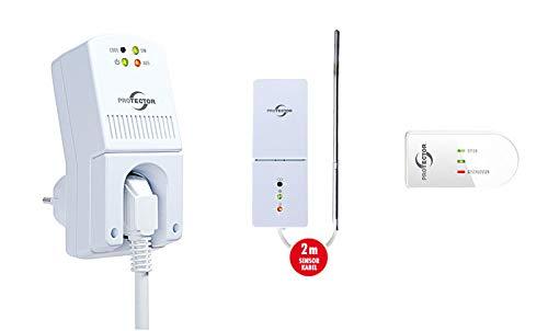 Protector Funk-Abluftsteuerung AS-5030.3 mit Thermo-Sensor und Fenster-Sender/Abluftsteuerung/Fensterschalter Wireless/Sensorschalter/Funksteuerung