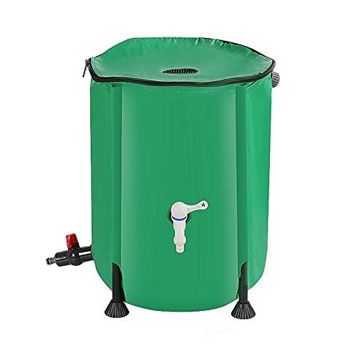 SHIJINHAO Colector De Agua De Lluvia Portátil, Cubo De Lluvia Plegable Flexible Plegable, Filtro De Grifo Fácil De Montar Usado para Invernadero, Jardín (Color : Green, Size : 1000L/120x88cm)