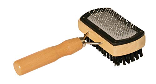 Basic Care Slicker Brush doble tapas protectoras cerdas