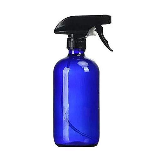 Nealan Pulverizador de aceite esencial, botella de cristal reutilizable para plantas, jardín, cocina, peluquería, aceite esencial, 250 ml (1, azul)