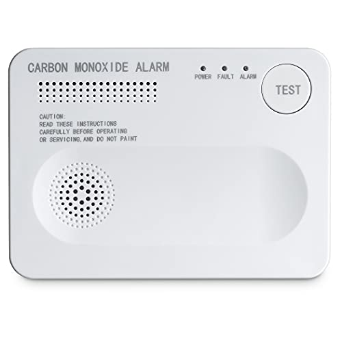 SEBSON Kohlenmonoxid CO Melder mit LED Statusanzeige, batteriebetrieben, Warnmelder mit Prüftaste und Selbsttest - EN 50291 Zertifiziert