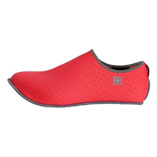 Mooto Korea Taekwondo MarShoes Mar Zapatos con Bolsa MMA Artes Marciales Yoga Gym Academy School House Skin Calcetines Tipo Rojo y Azul Marino 2 Colores (Red, 7. 2XL(290~305 mm or 11.41~12.01 Inch))