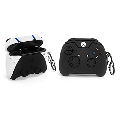 [2Pack] Game Controller Beats Studio Buds Case for Beats Studio Buds, 3D Cute Fashion Cool Design Beats Studio Buds Silicone Cover, Unique Stylish Funny Protect Skin Accessories with 2Keychain