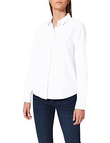 PIECES Pcirena LS Oxford Shirt Noos Blusa, Blanco (Bright White Bright White), 42 (Talla del Fabricante: X-Large) para Mujer