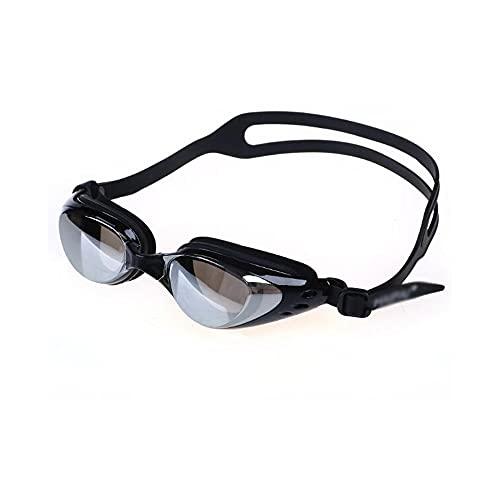 YUZHUKKKPYZ YJ - Gafas de natación para hombre y mujer, protección para piscina, gafas de natación de silicona, resistente al agua, color negro