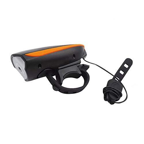 Luce Per Bicicletta A Led 2 In 1 Con Campanello Elettrico Vibrazione Per Avvisatore Acustico Avvisatore Acustico Batteria Per Bicicletta Luce Per Bicicletta Ricarica Usb Integrata