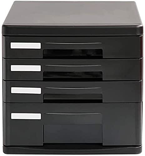 Cajonera de Oficina,Archivador para Oficina 4 cajones Plástico Desktop Security Gabinete Archivo Gabinete de almacenamiento Caja de almacenamiento Archivo de escritorio Archivo de mesa Oficina Locker