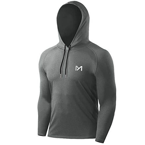 MEETYOO Camiseta Hombre, Manga Larga Camisetas Deportiva T-Shirt para Running Fitness Gym