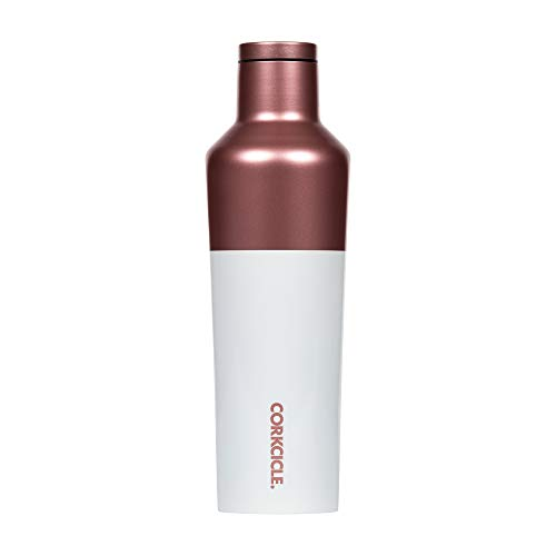 Corkcicle Color Block Botella isotérmica, Acero Inoxidable, Rosé, 47 cl