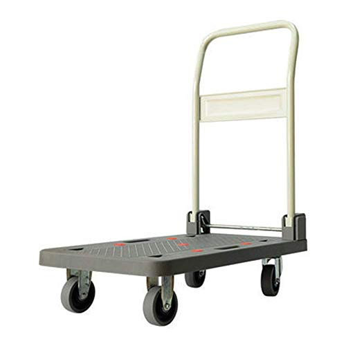 Tokyia 350KG Heavy Folding Hand Truck, Platform Flat Barrow, Sack comfortable Multi-Functional Trolley for Easy Transportation/Heavy Lifting Transportation