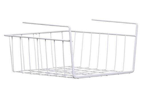 Premier Housewares 0509719, Cestino di Stoccaggio, Sotto Mensola, 26 x 30 x 15 cm, Bianco