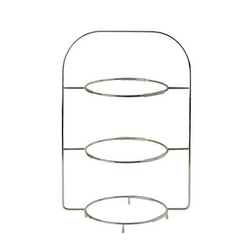 Villeroy & Boch - 10-4545-7865 - Anmut Etagère en Acier Inoxydable de Qualité, Plateau 3 Etages Pour Buffet Ou Brunch, Combinables avec Des Assiettes, 40 cm
